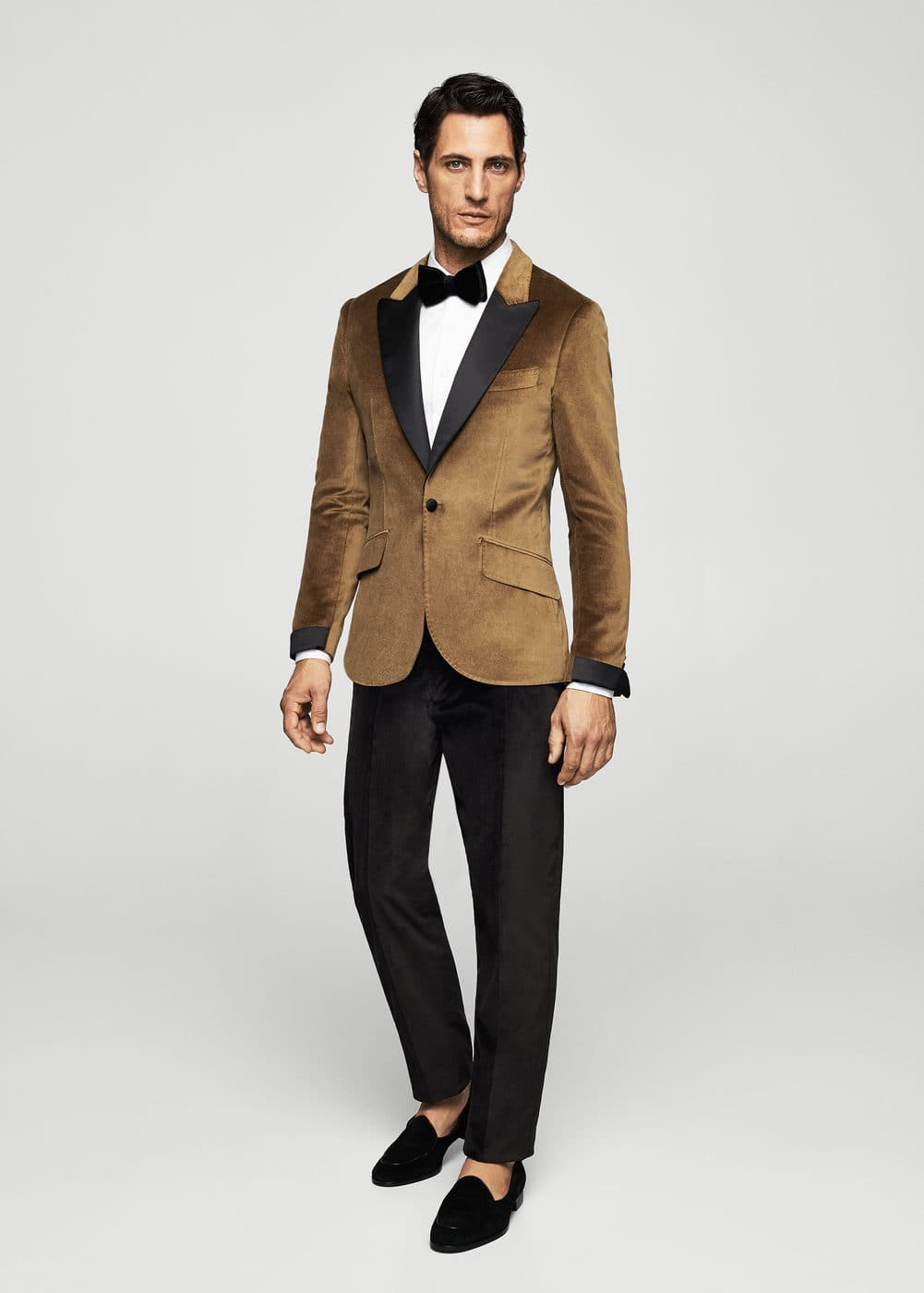 Slim-fit velvet suit trousers | MANGO