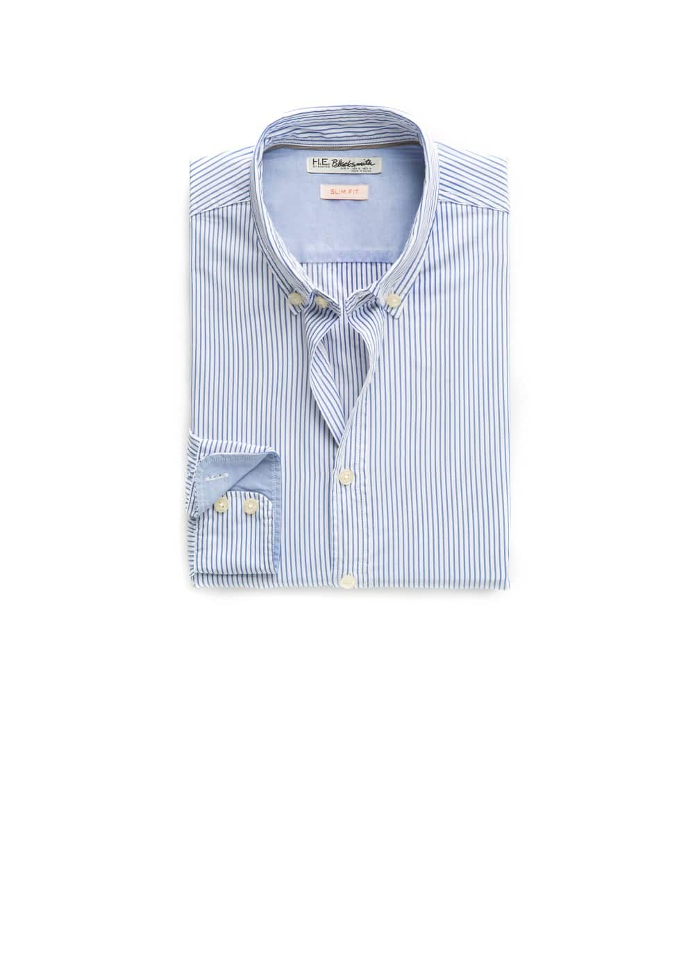 Slim-fit striped shirt | MANGO MAN