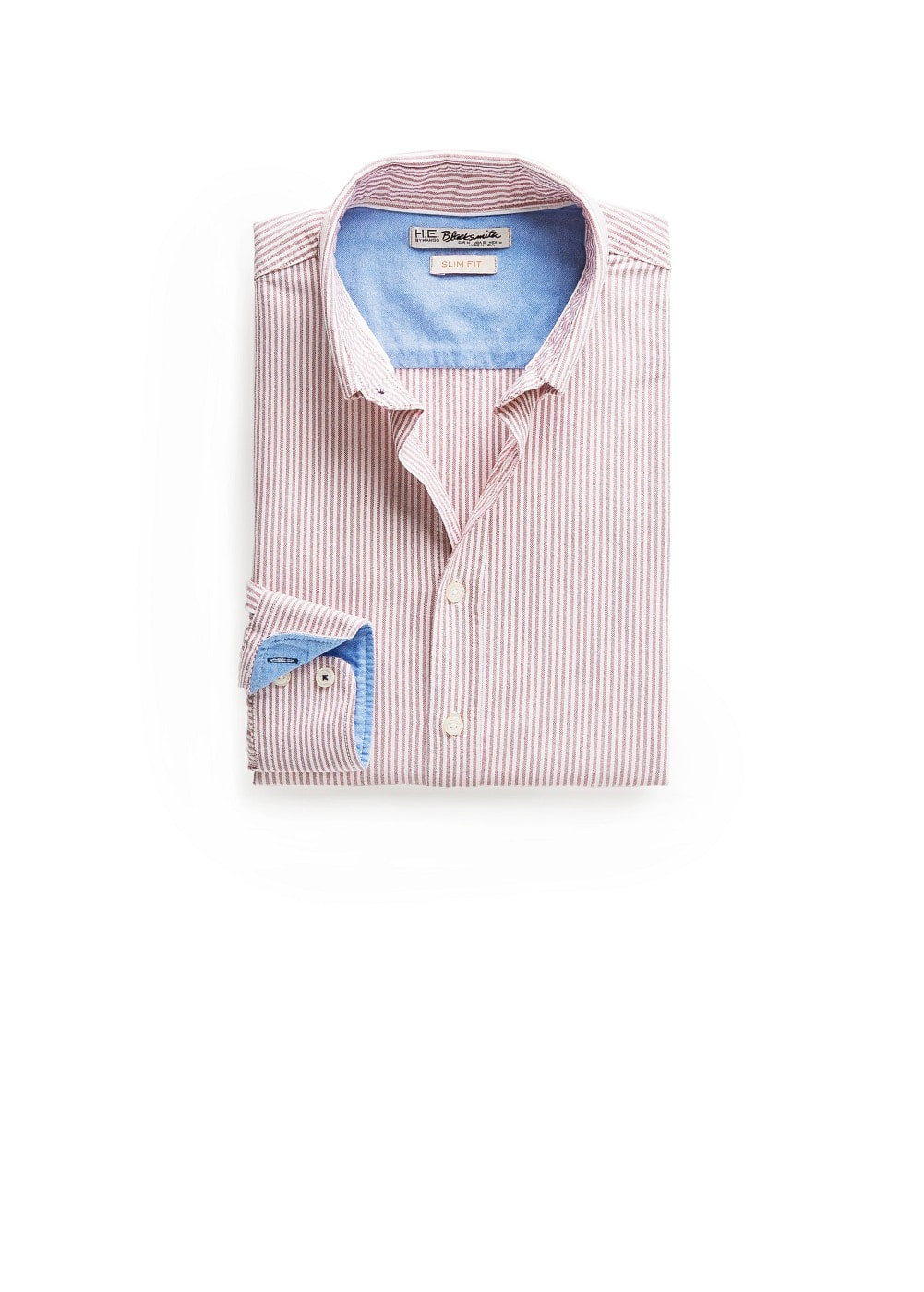 Slim-fit oxford striped shirt | MANGO