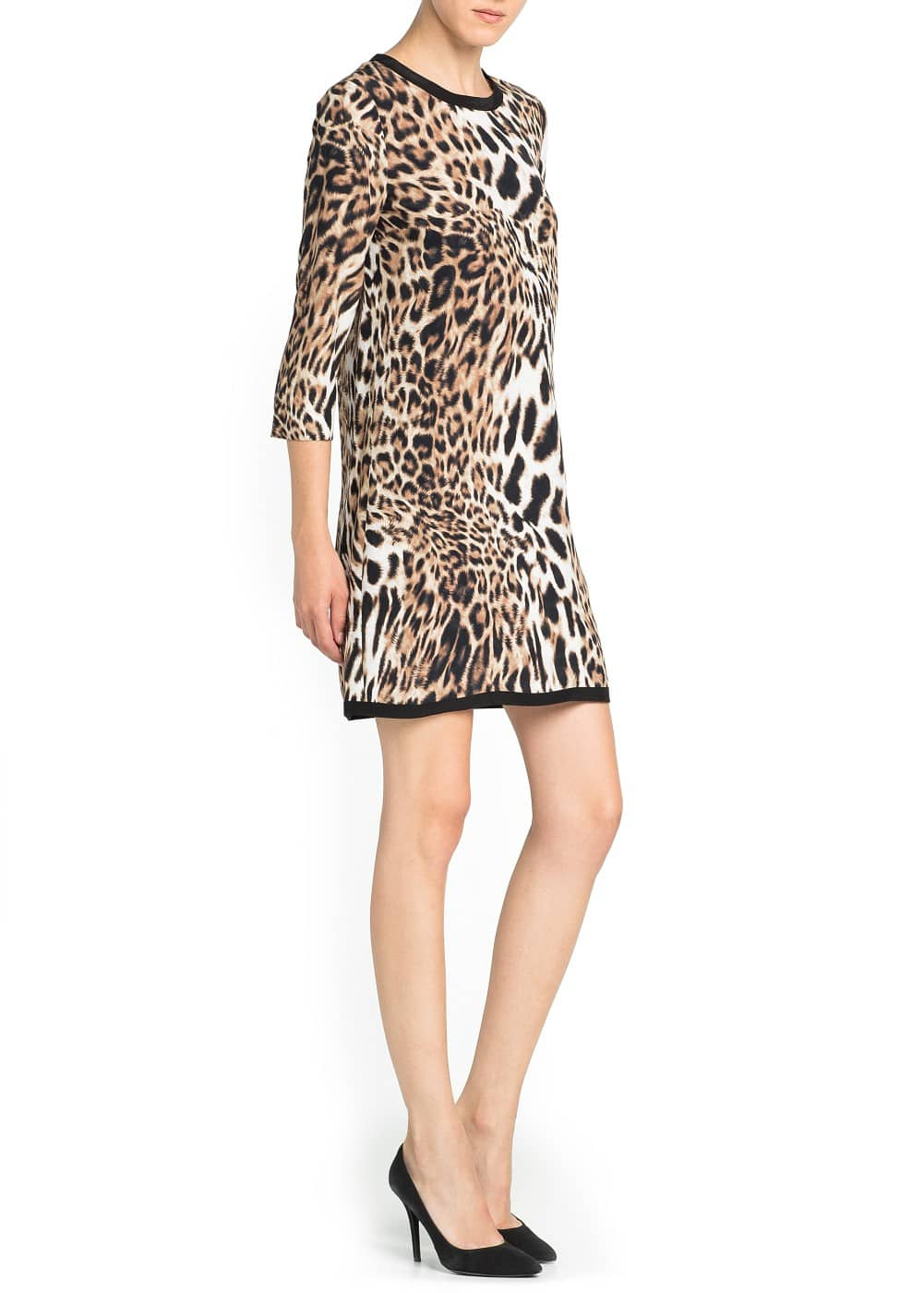 Leopard print flowing dress | MANGO
