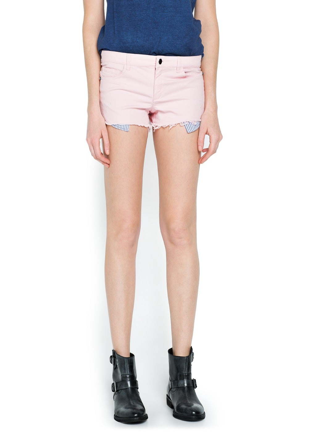 Contrast pocket short | MNG