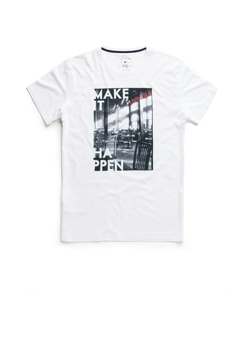 Living la-print t-shirt | MANGO MAN
