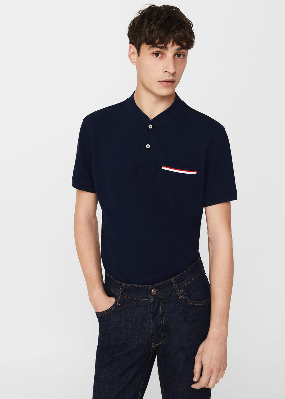 Slim fit polo-shirt aus baumwoll-piqué | MANGO