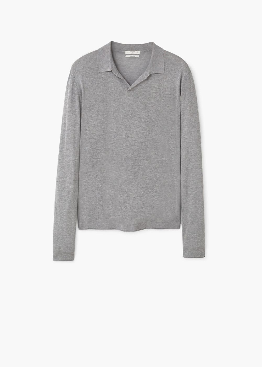 Fine-knit polo shirt | MANGO MAN