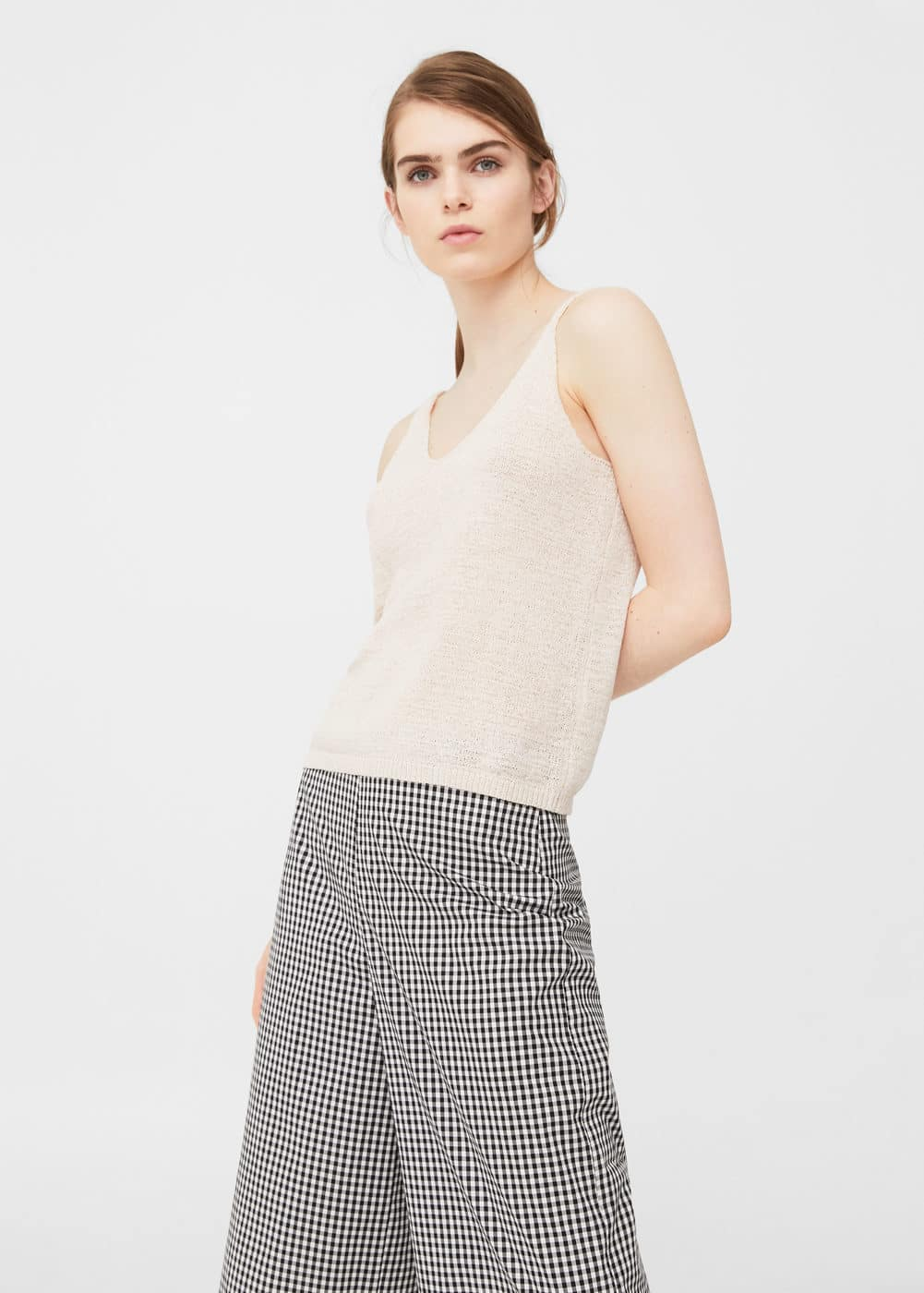 Fine knit top | MANGO
