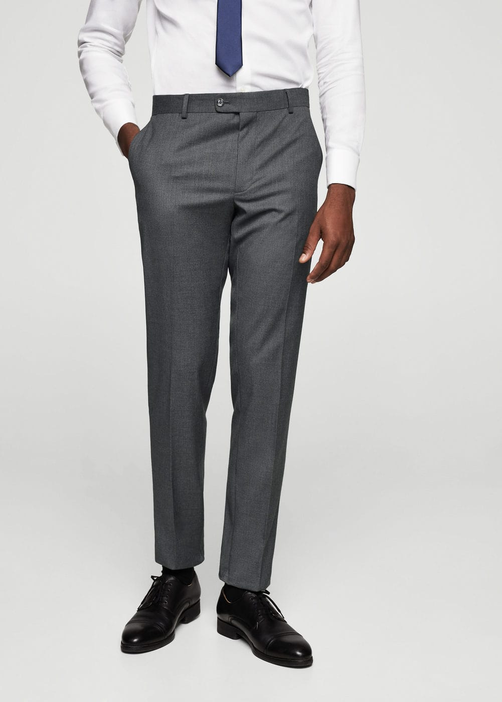 Slim-fit patterned suit trousers | MANGO MAN