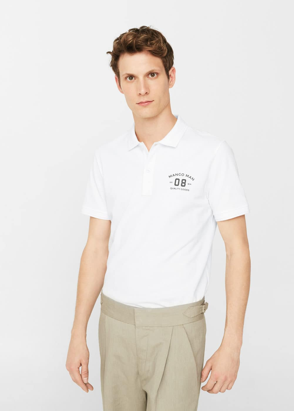 Slim-fit cotton polo shirt | MANGO