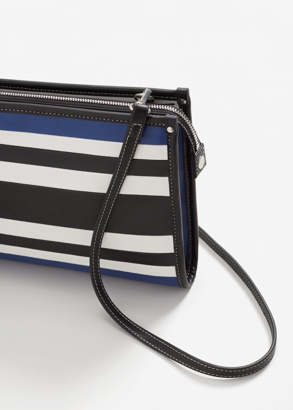 Striped strap clutch | MANGO