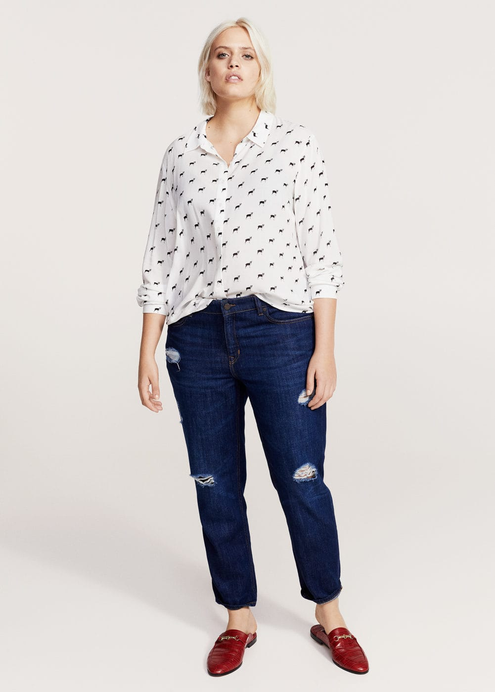 Camisa estampat animal | MANGO