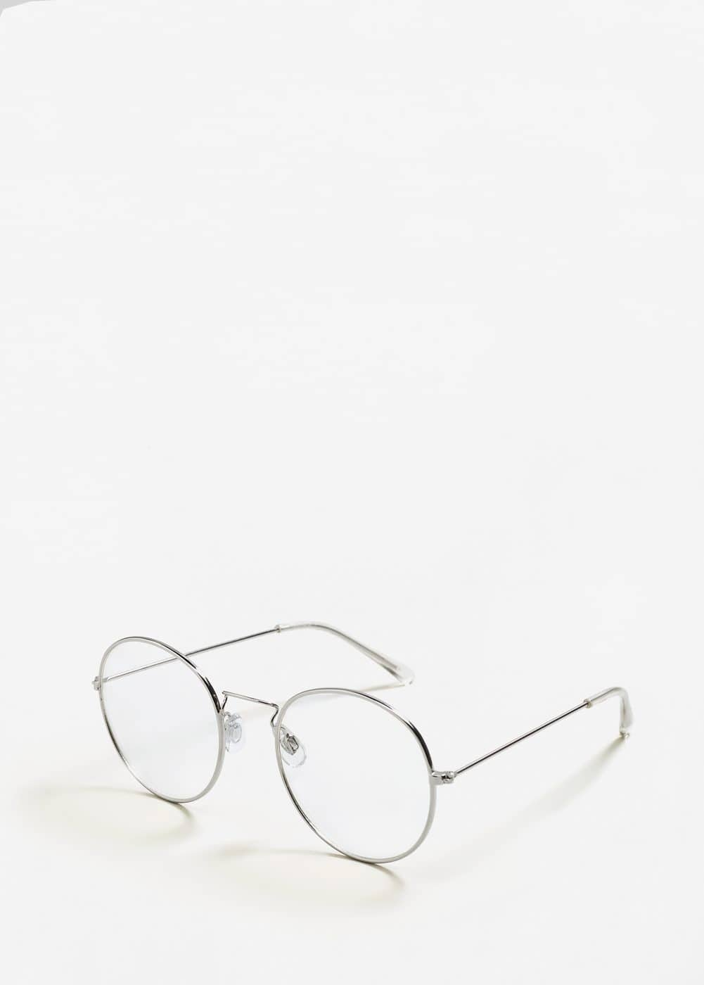 Transparent rounded sunglasses | MANGO