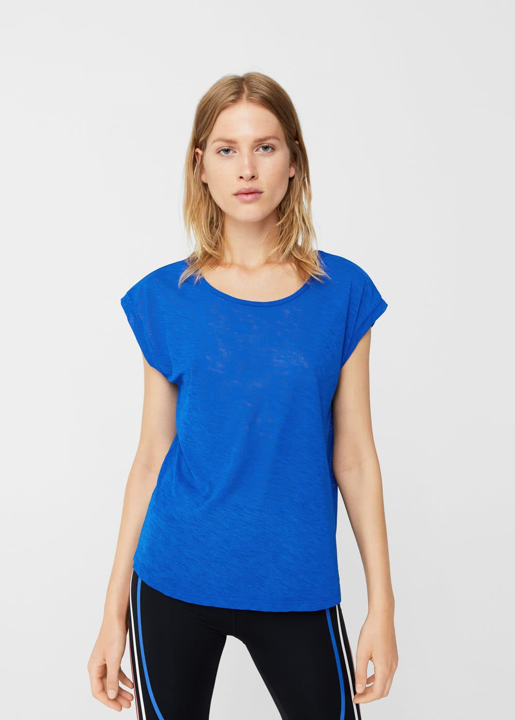 Flecked lightweight t-shirt | MNG