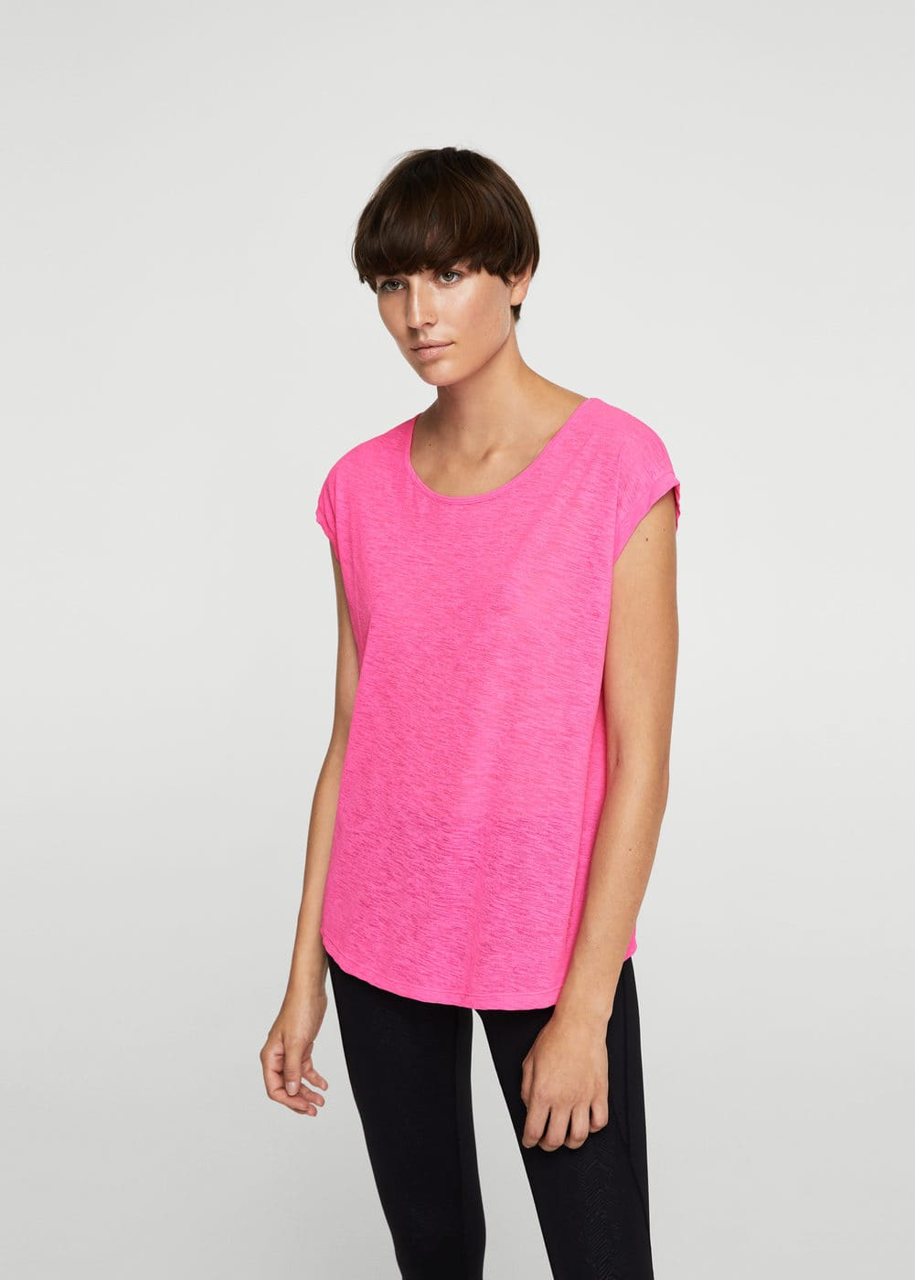 Flecked lightweight t-shirt | MANGO
