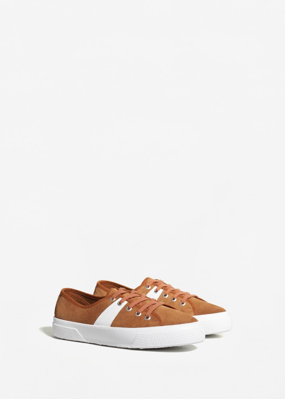 Suede mixed sneakers | MANGO