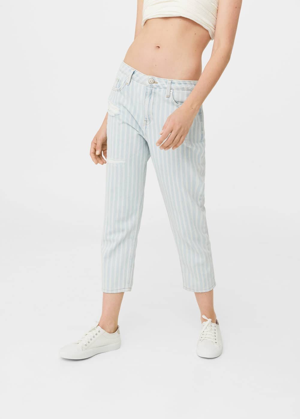 Summer straight crop jeans | MANGO