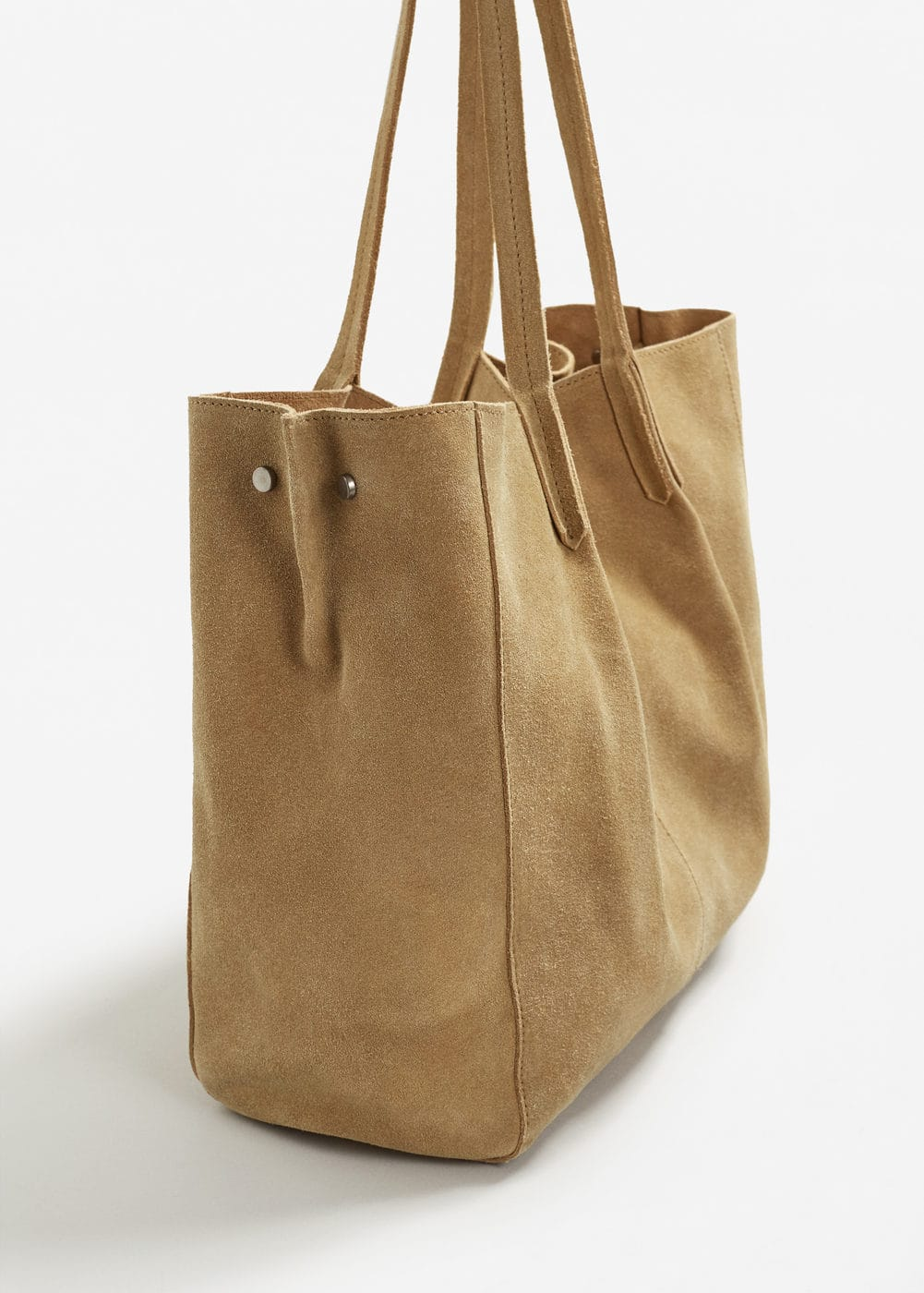 Leather shopper bag | MANGO