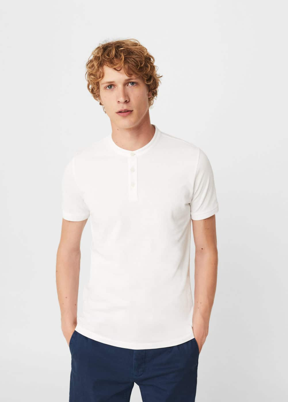 Polo slim-fit piqué de coton | MANGO