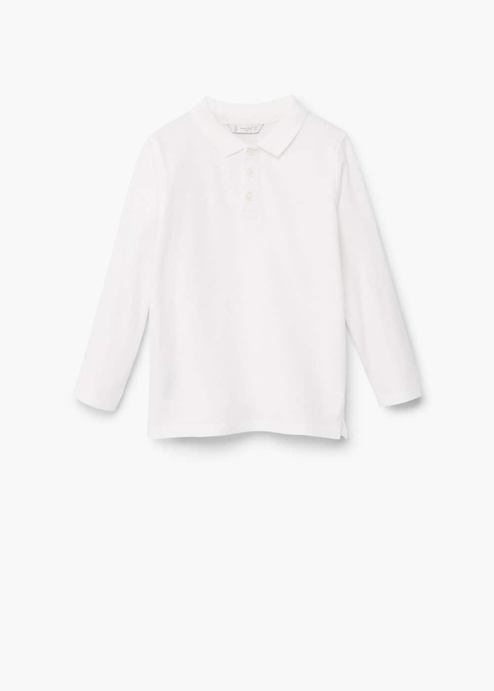 Button-down collar polo shirt | MANGO KIDS