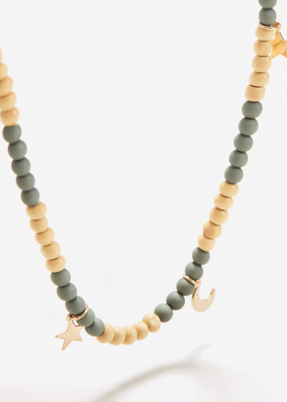 Beads pendant necklace | MANGO