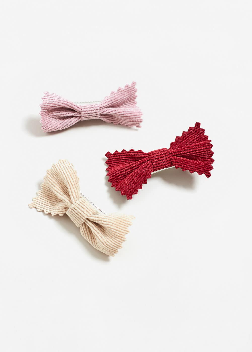 3 pack bow hairclip | MANGO