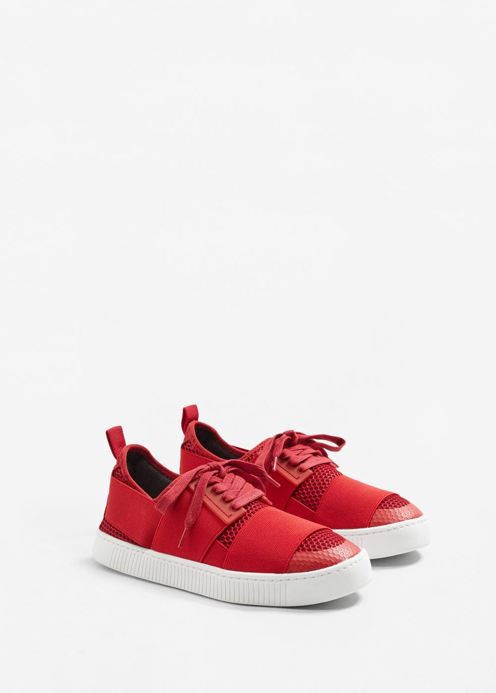 Laser-cut pattern sneakers | MANGO