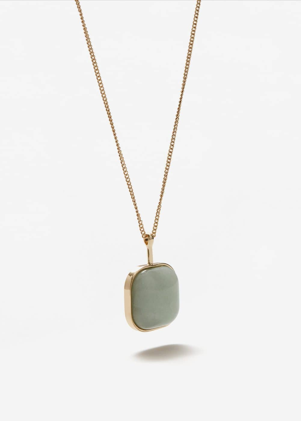 Stone pendant necklace | MANGO