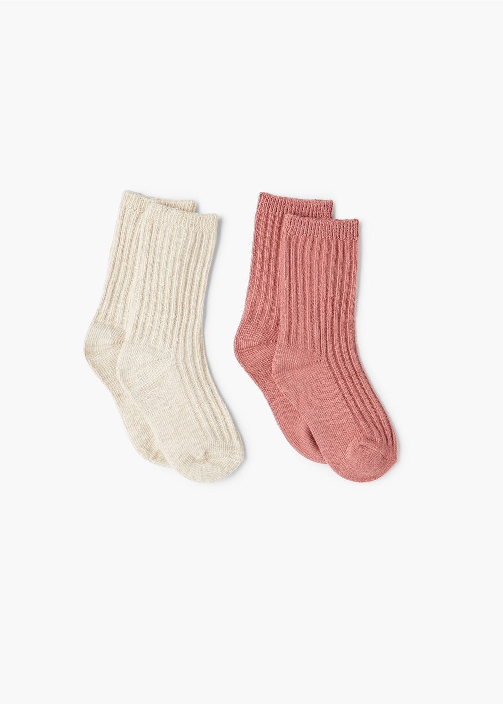 2 pack ribbed socks | MANGO