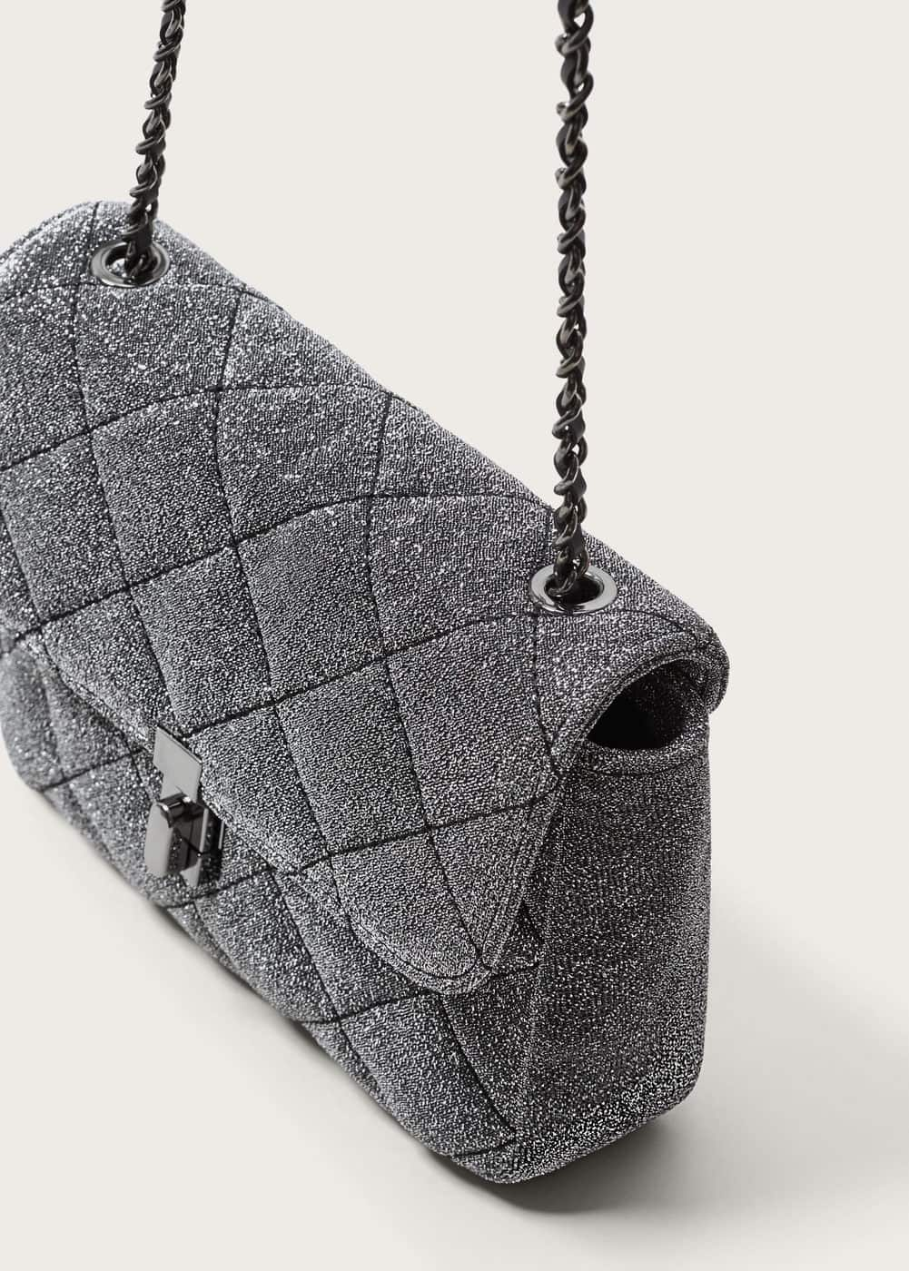 Glitter quilted bag | MANGO