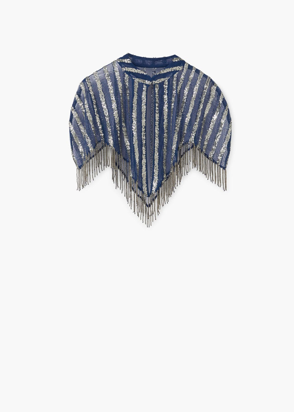 Sequined embroidery cape | MANGO