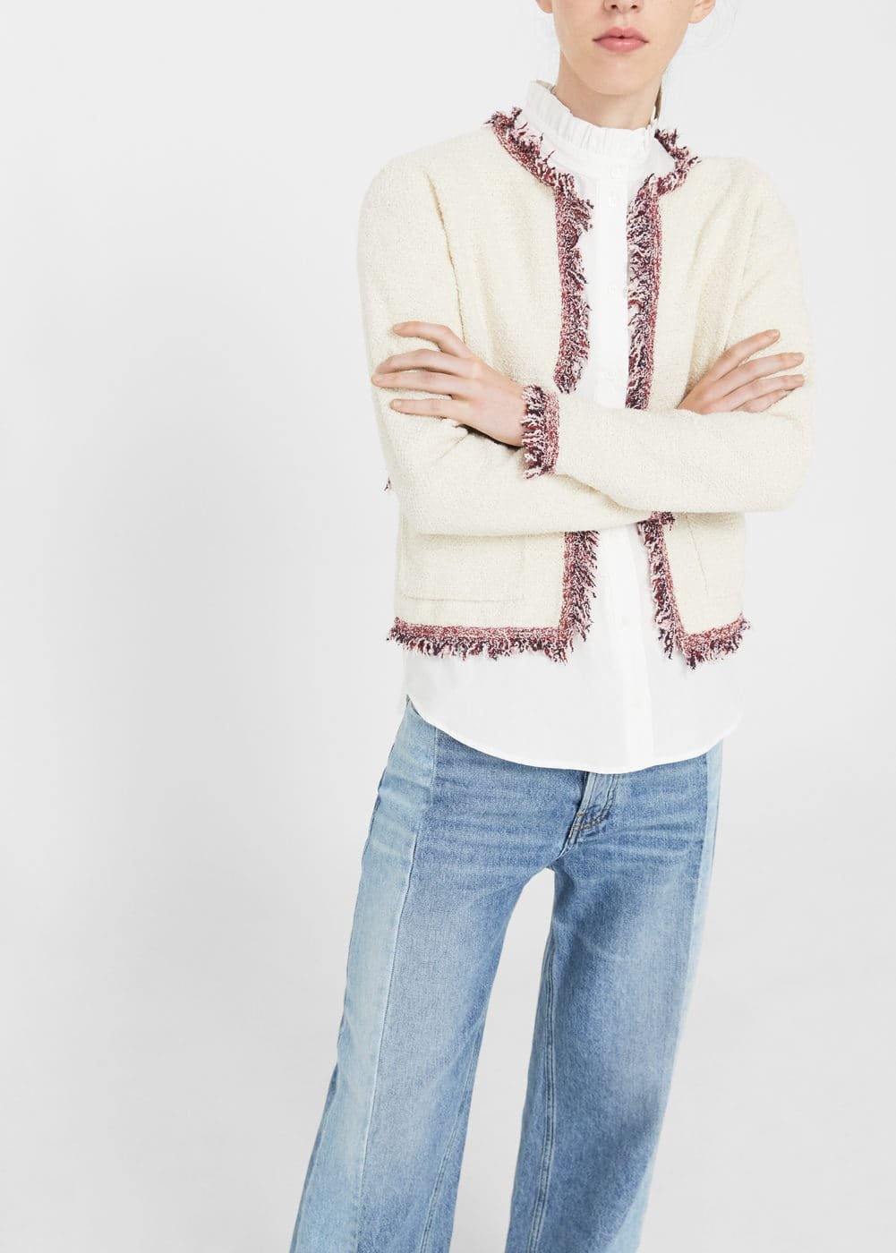 Frayed edges cardigan | MANGO