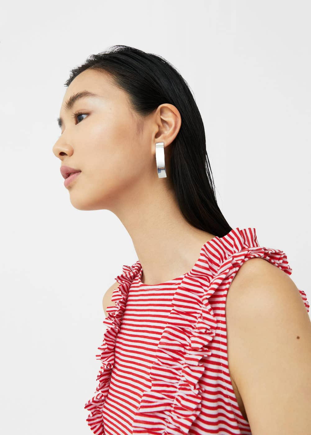 Ruffle striped top | MANGO