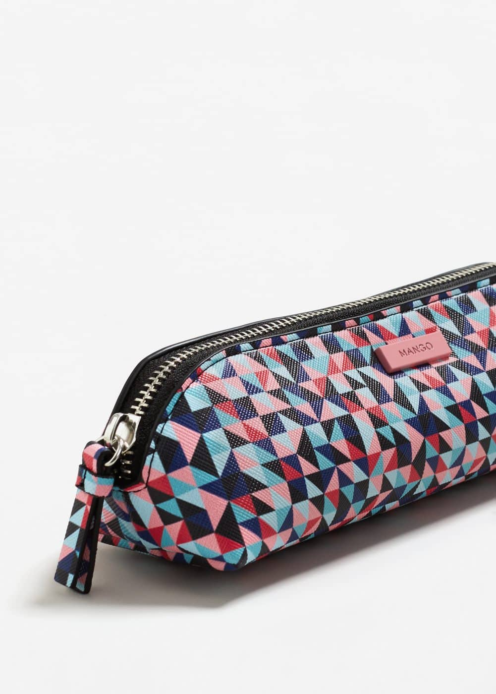 Geometric print cosmetic bag | MANGO