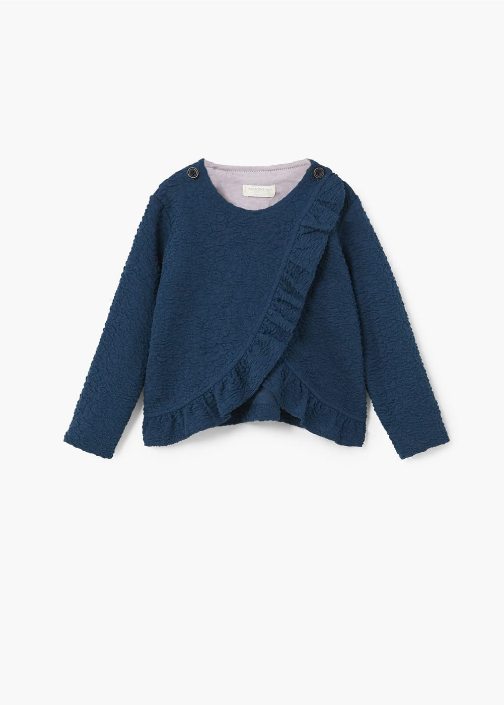 Ruffled textured sweater | MANGO KIDS