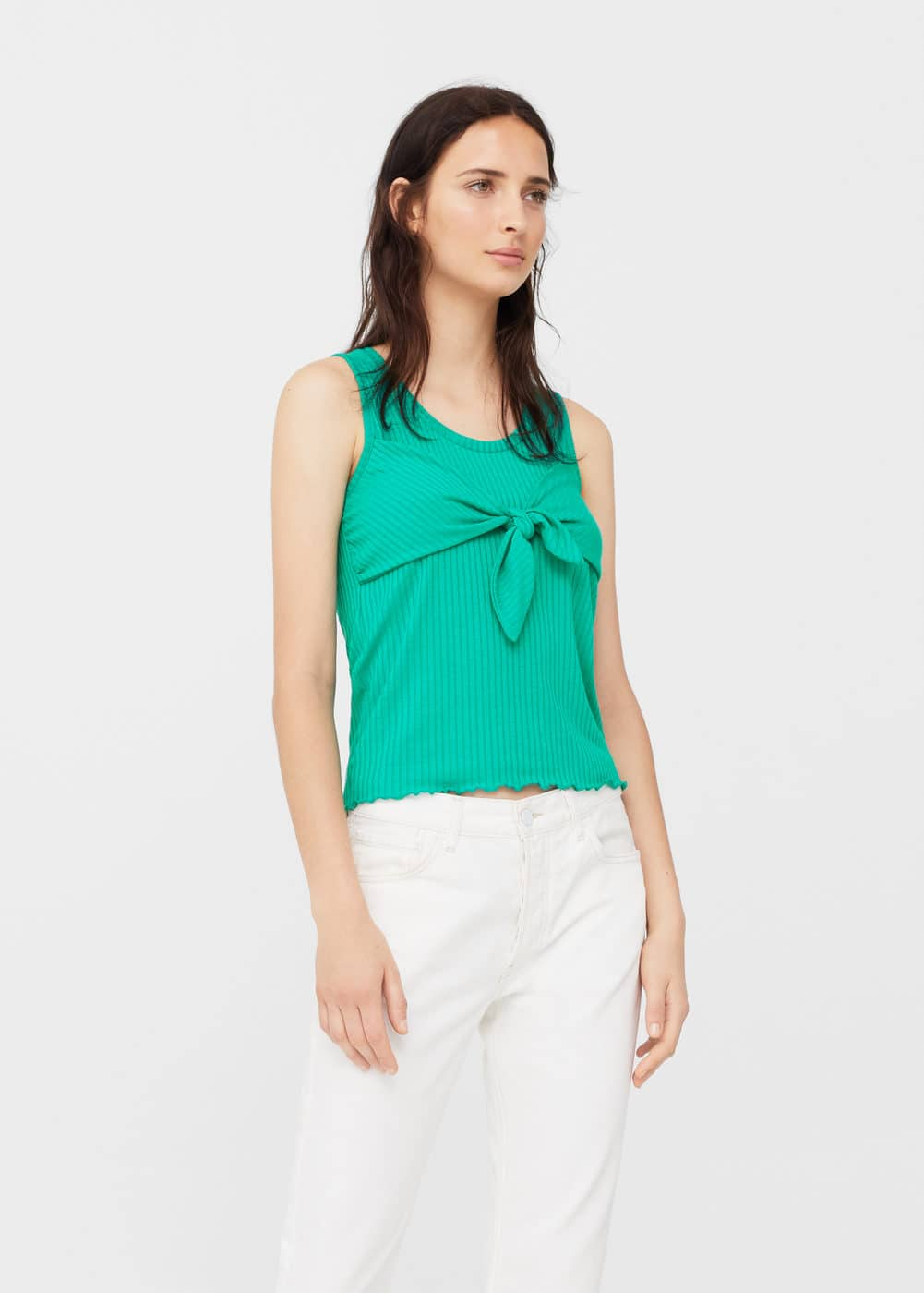 Knot detail ribbed top | MANGO