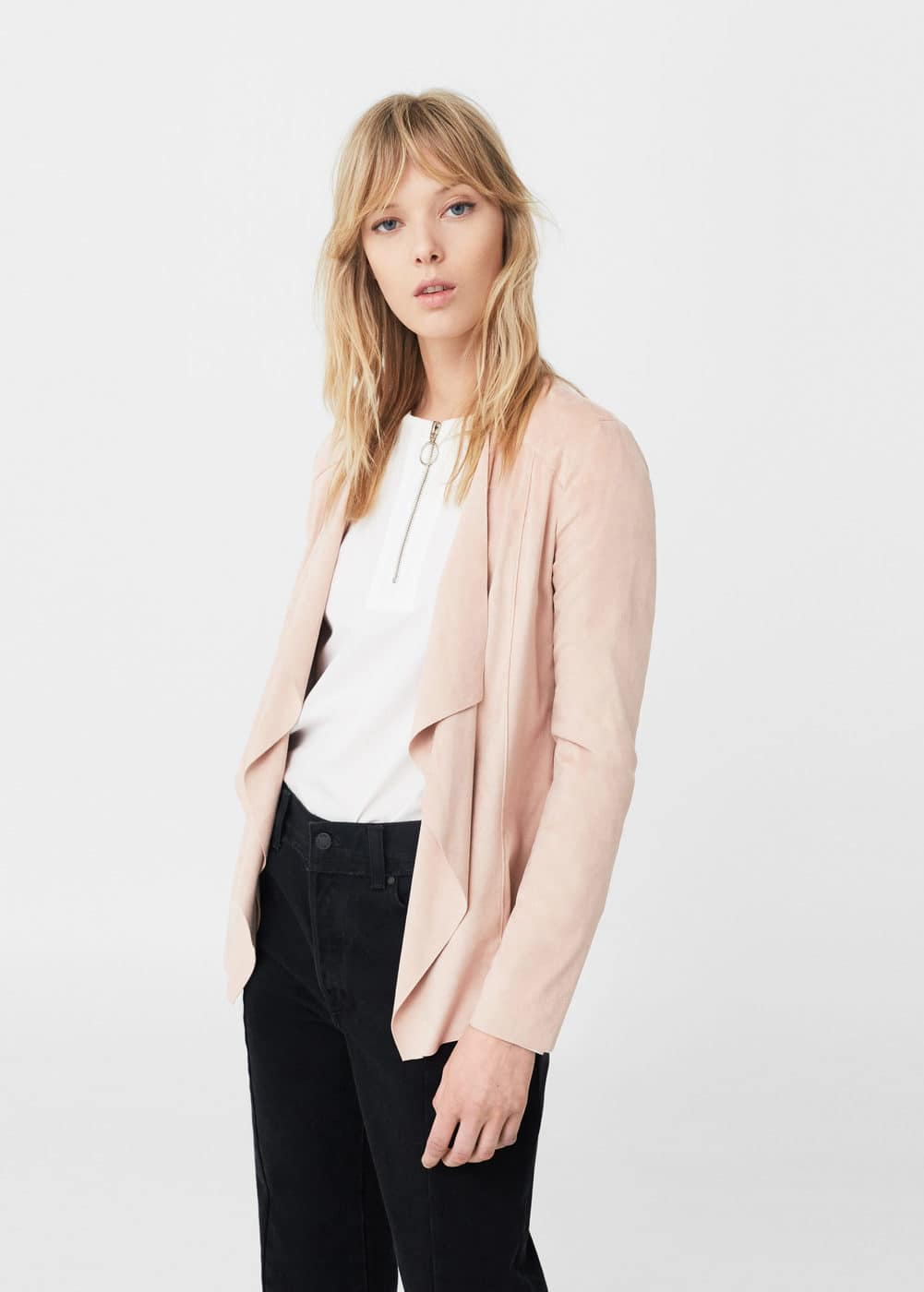 Waterfall faux suede jacket | MANGO