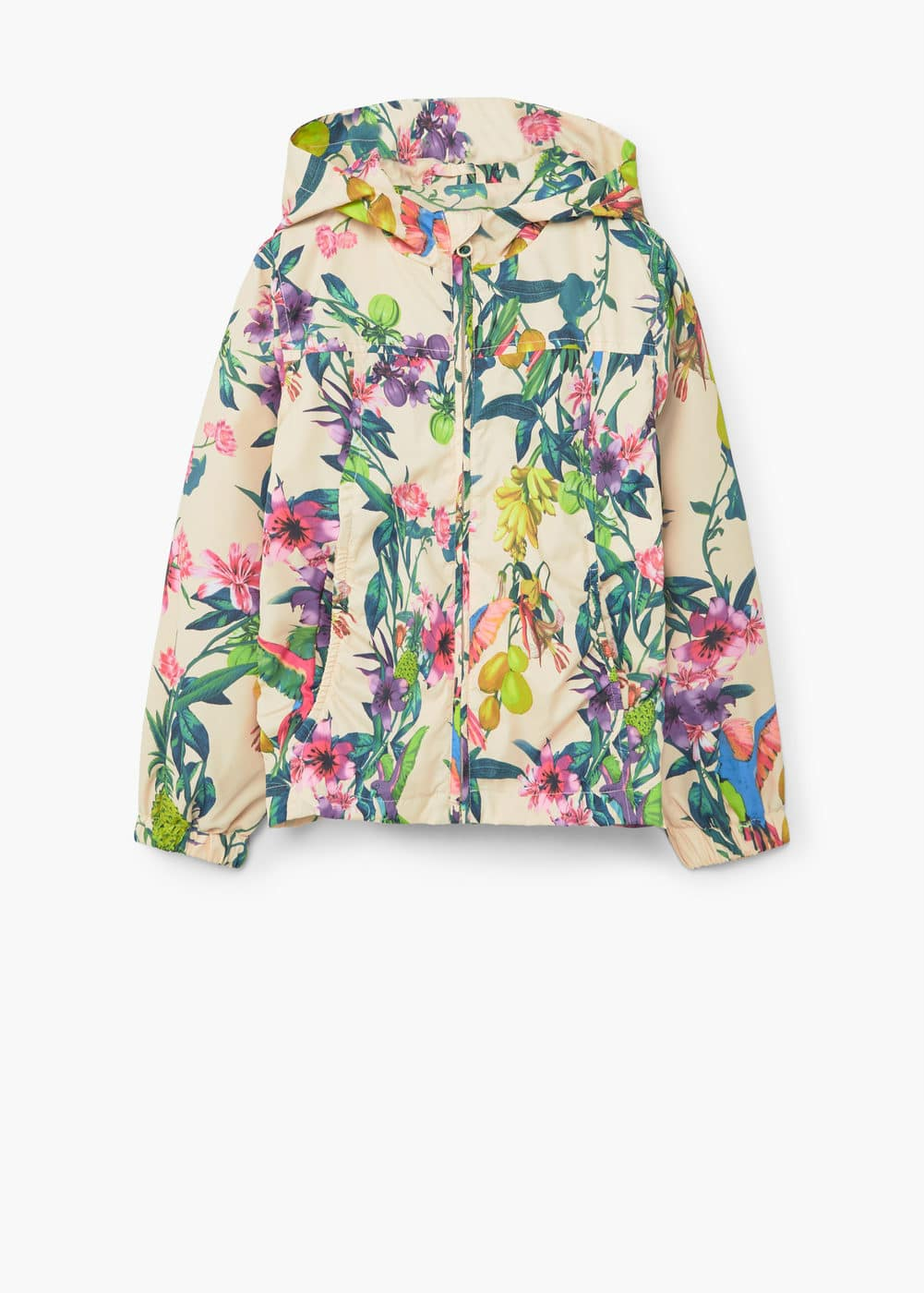 Raincoat hooded jacket | MANGO