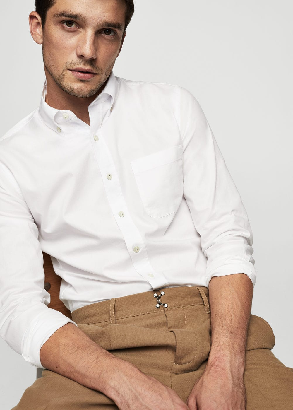 Slim-fit oxford shirt | MANGO