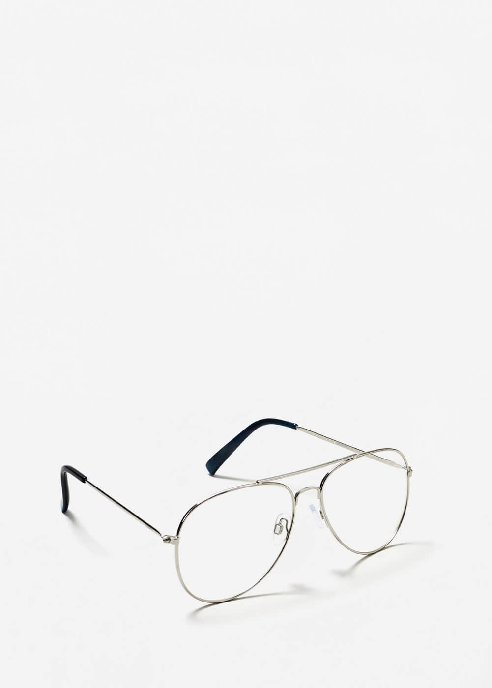 Aviator metallic frame glasses | MANGO MAN