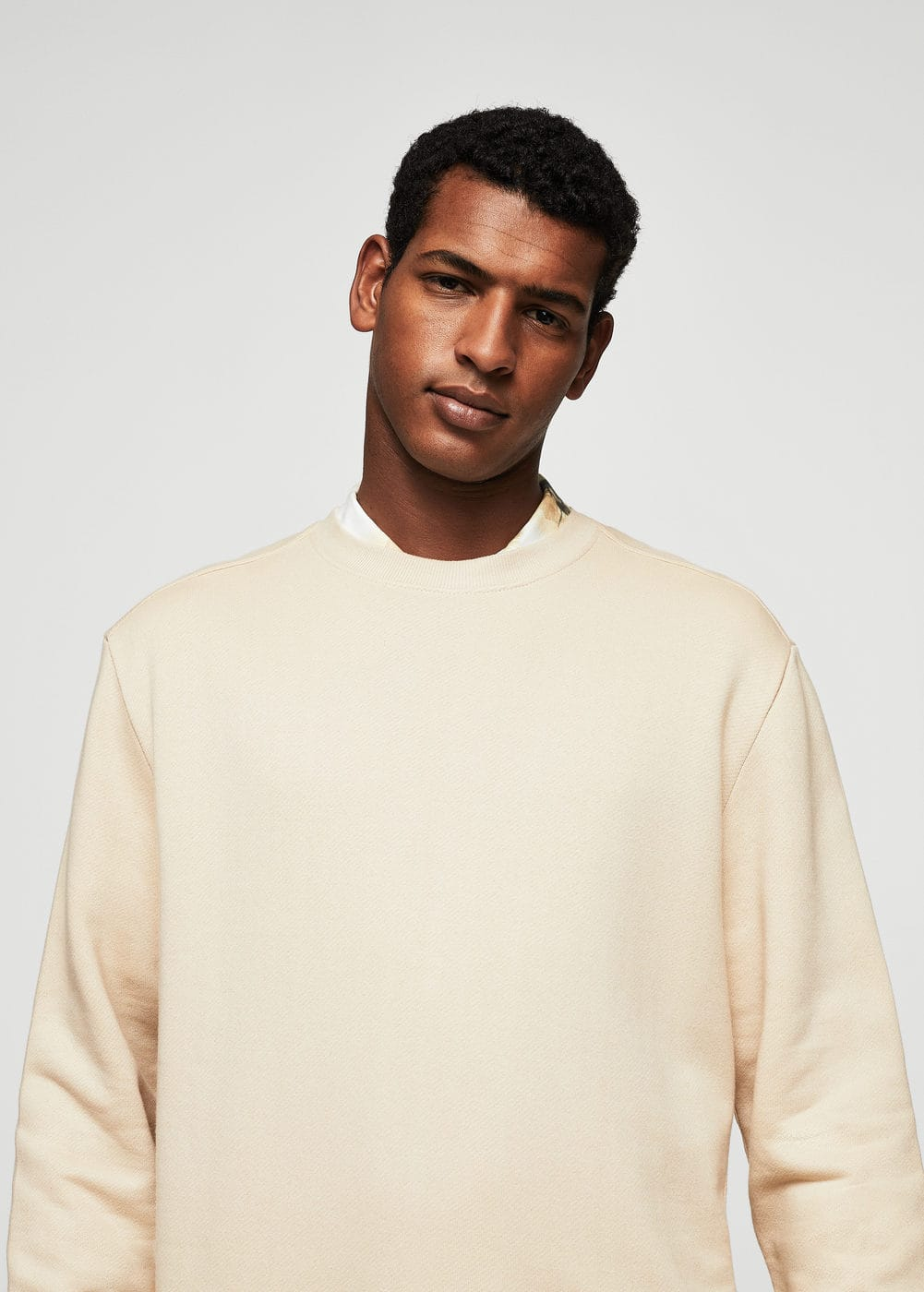 Cotton sweatshirt | MANGO