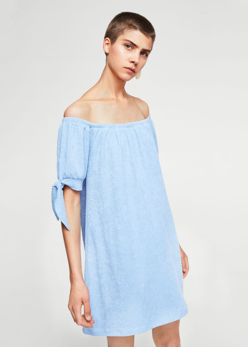 Knots textured dress | MANGO