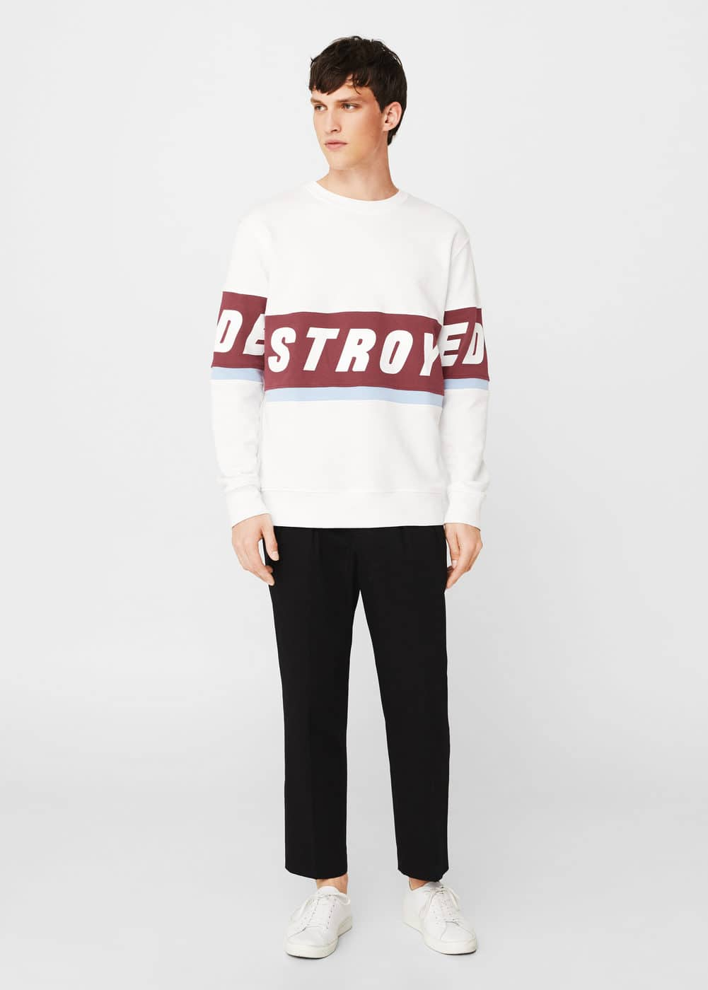 Message cotton sweatshirt | MANGO