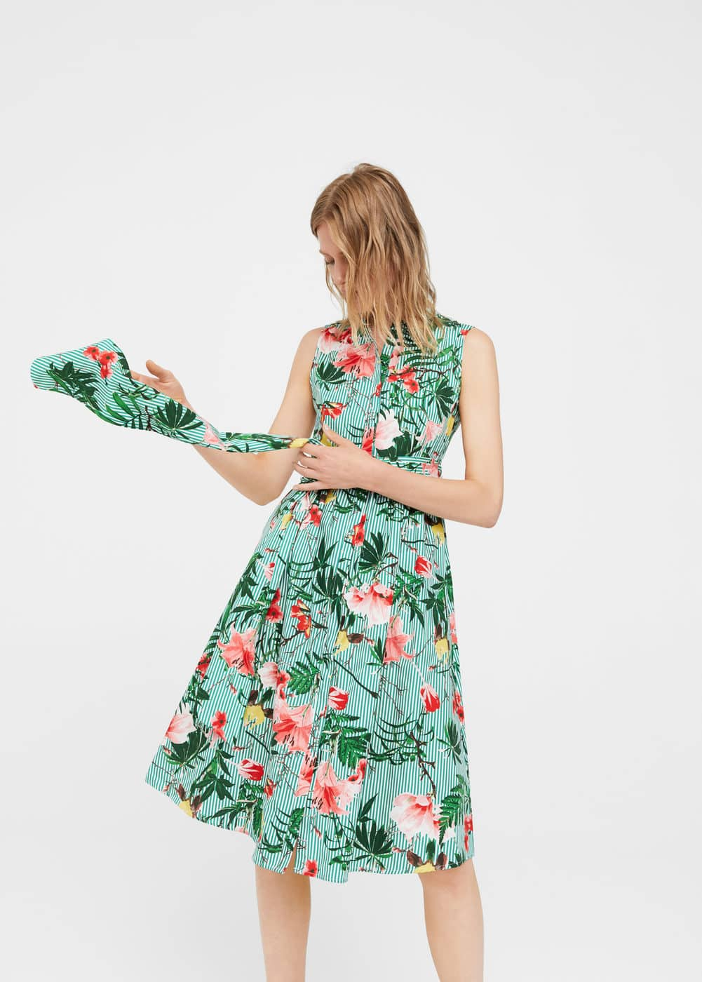 Tropical print dress | MANGO