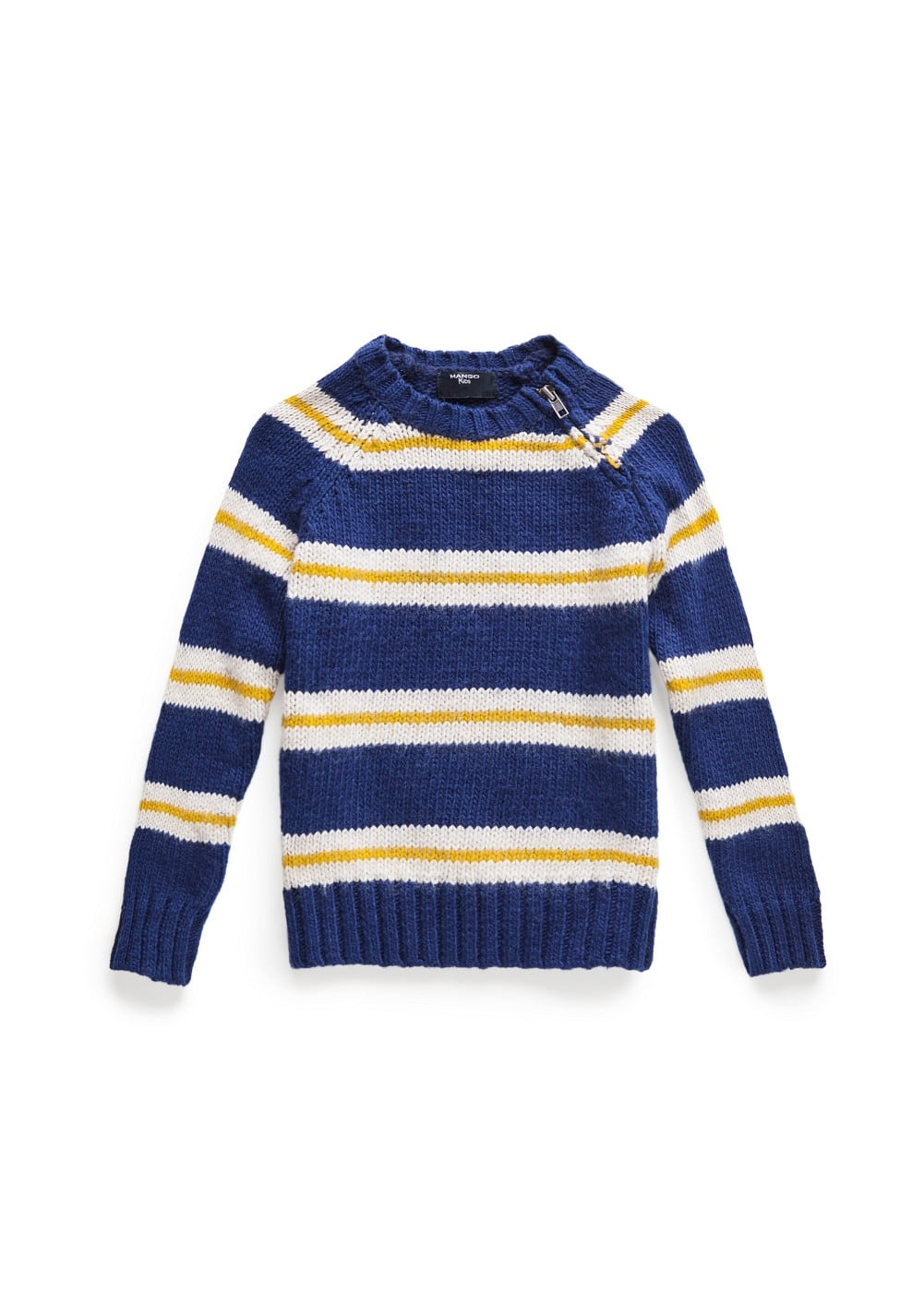 Striped cotton-blend sweater | MANGO KIDS