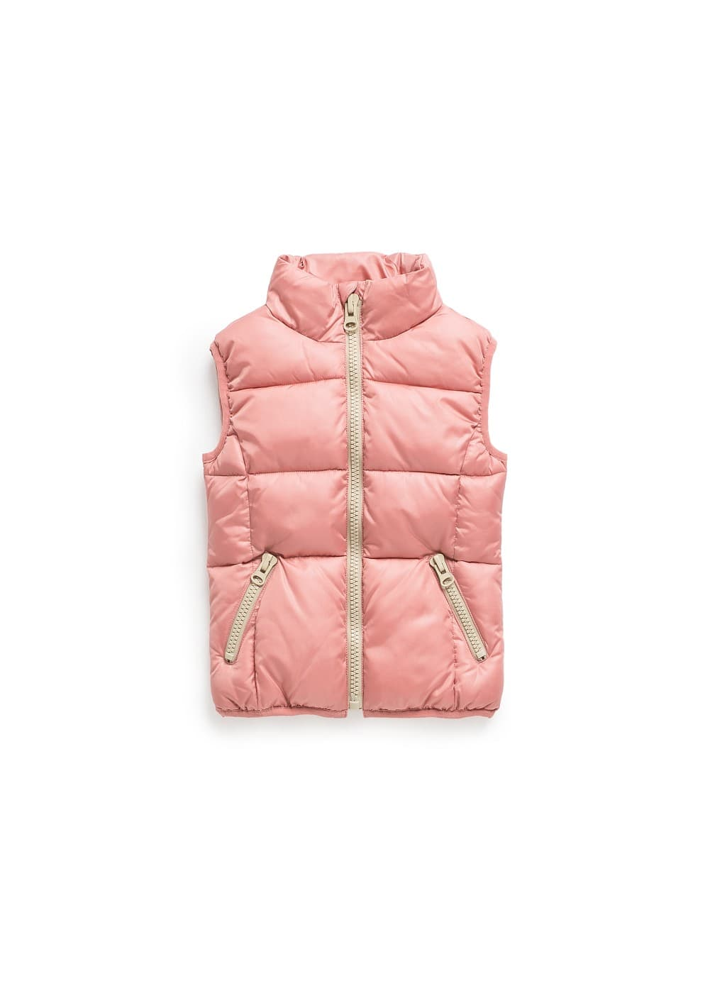 Contrasted details quilted gilet | MANGO
