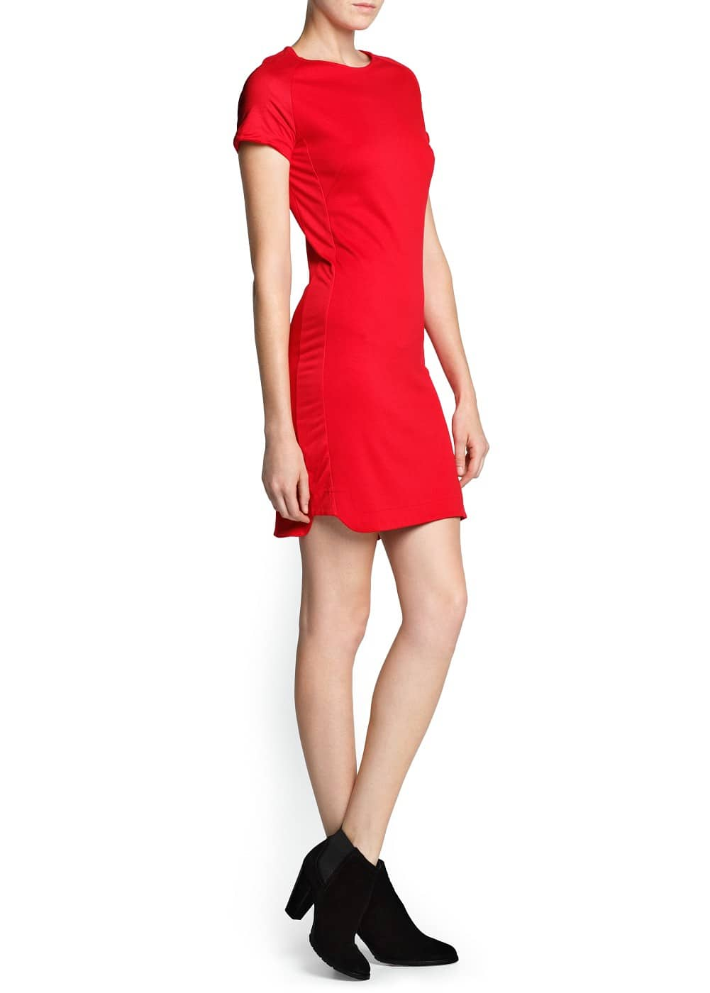 Contrast panel dress | MANGO