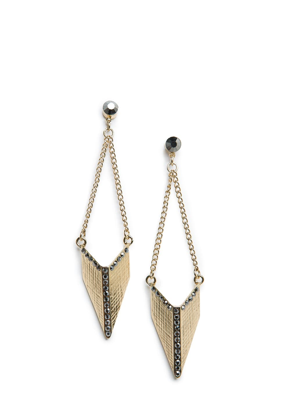 Strass triangle earrings | MANGO