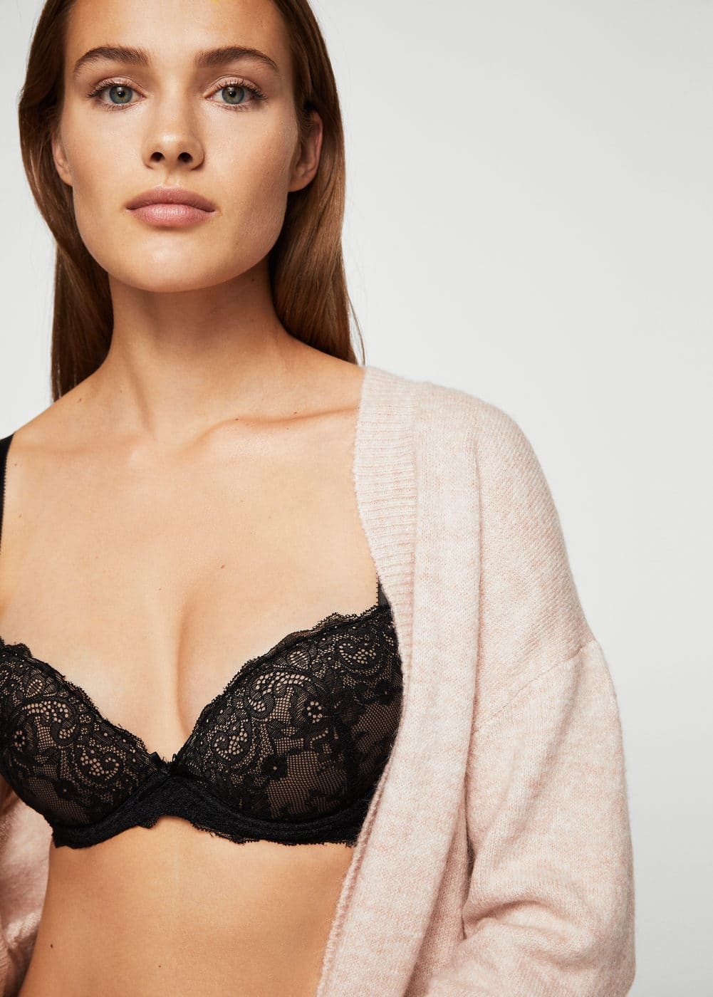 Lace wired bra | MANGO