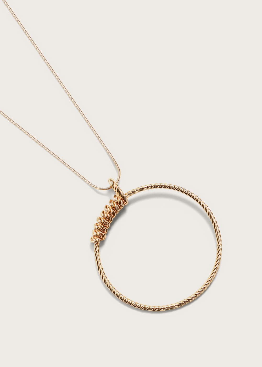 Hoop necklace | VIOLETA BY MNG