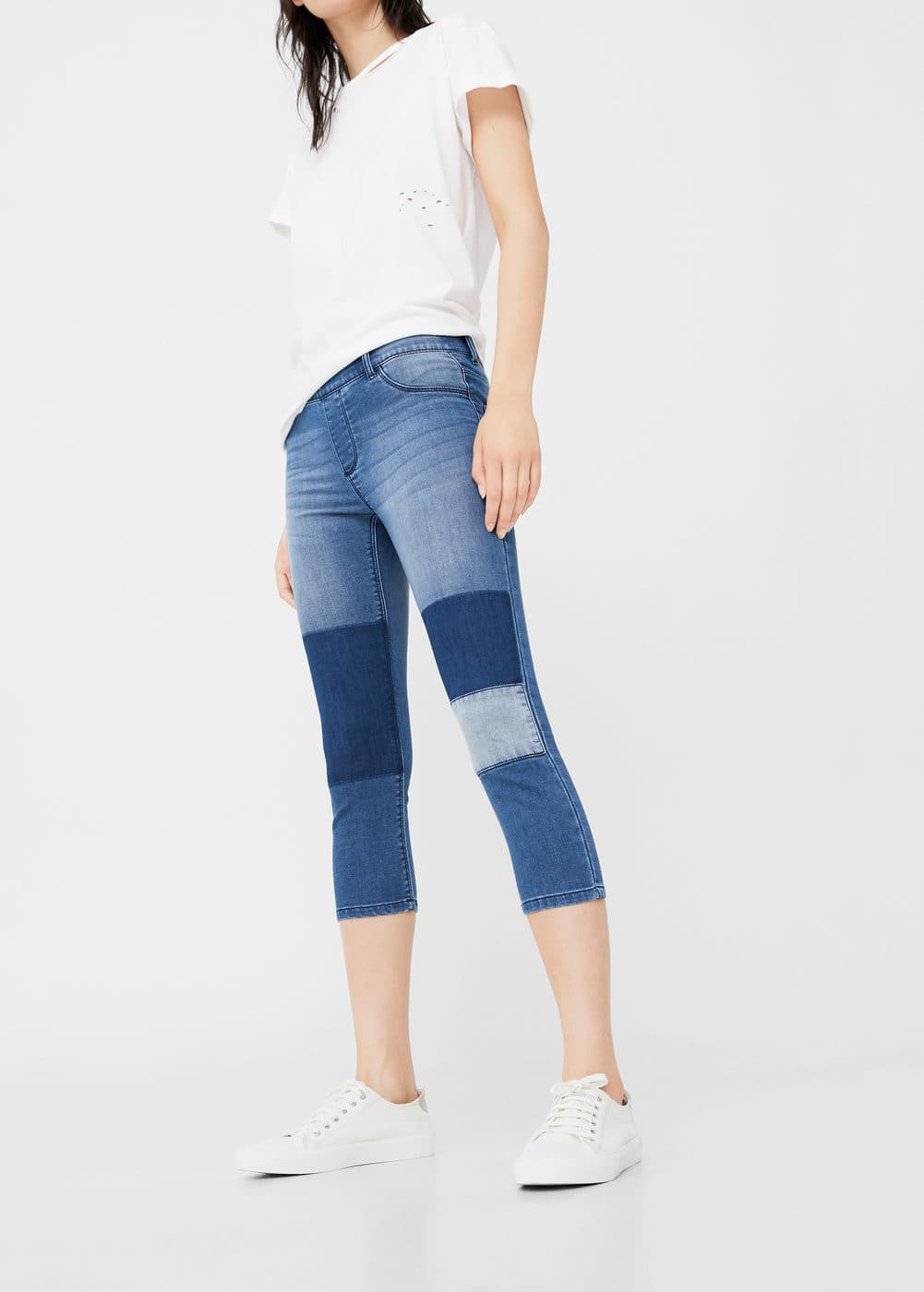 Patch slim-fit jeans | MANGO