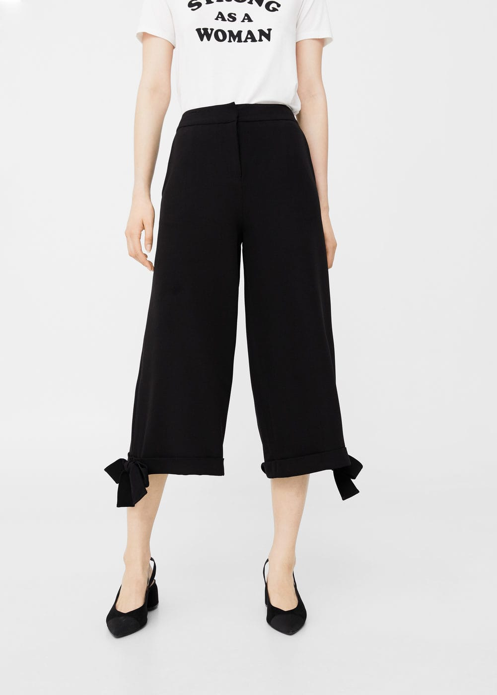 Flowy cropped trousers | MNG