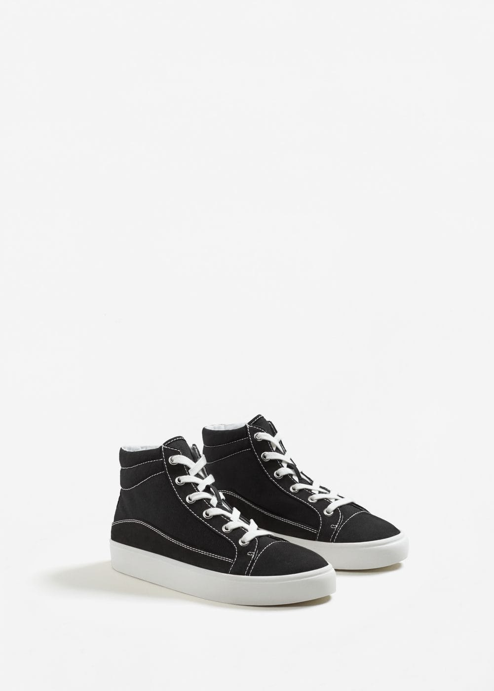 Decorative seam sneakers | MANGO